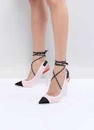 черно-белые туфли со шнуровкой