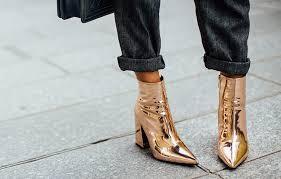 ботинки золотого цвета