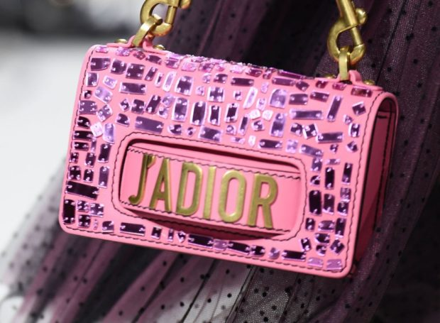 розовая сумка с блеском