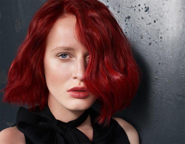 красно-рыжий оттенок волос