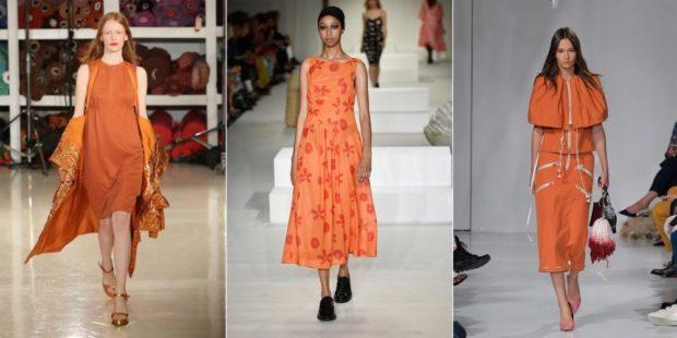модные оттенки оранжевого цвета