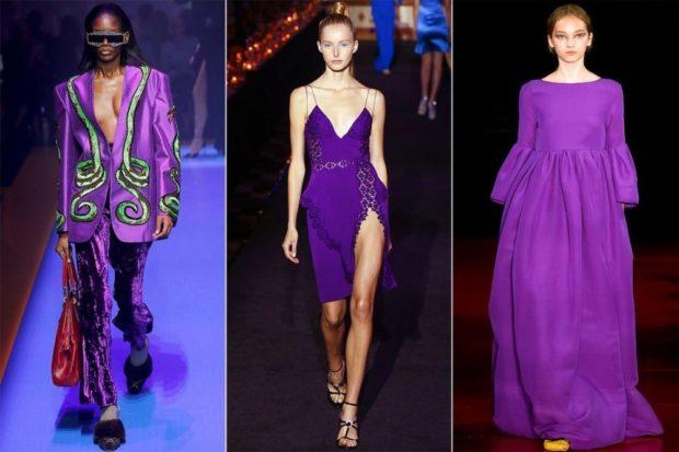 Модные цвета весна лето 2019: фиолетовая расцветка