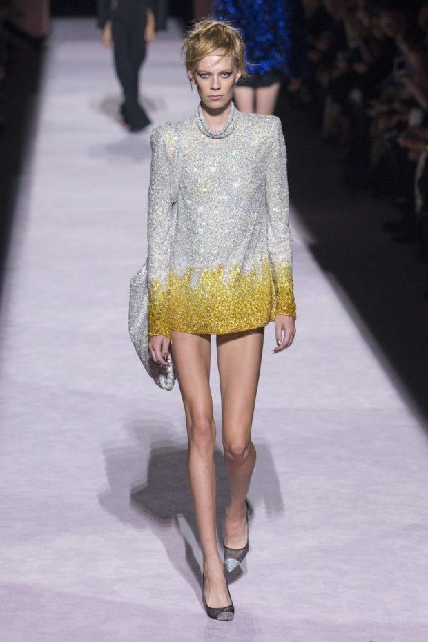 светлое платье с контрастным низом