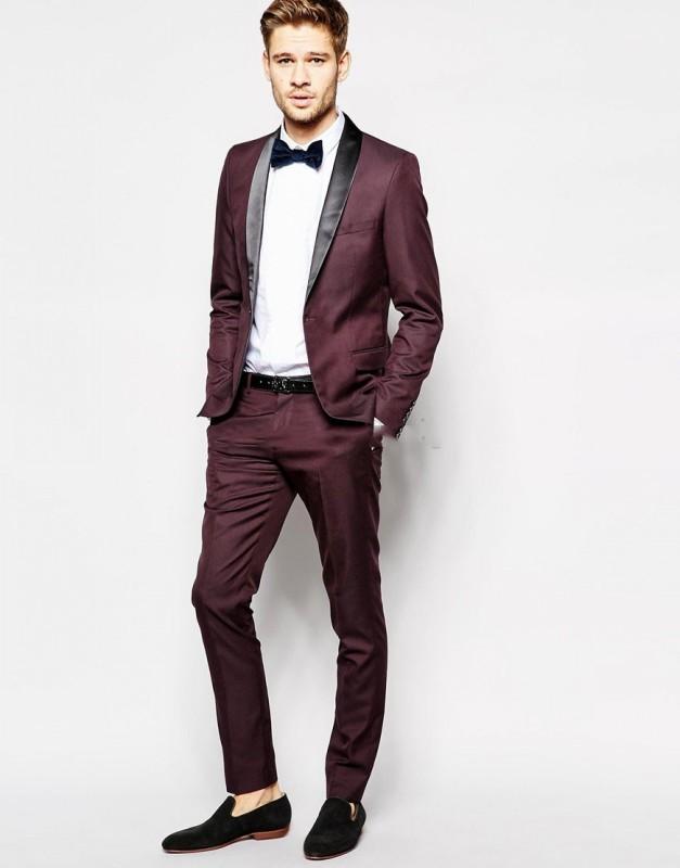 классический костюм бордового цвета