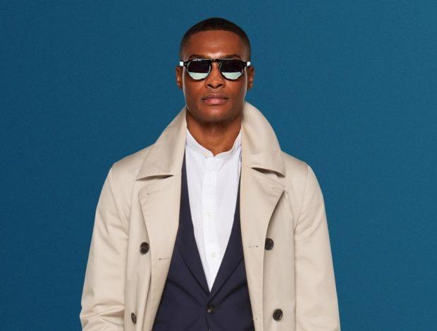 пальто белого цвета темный пиджак