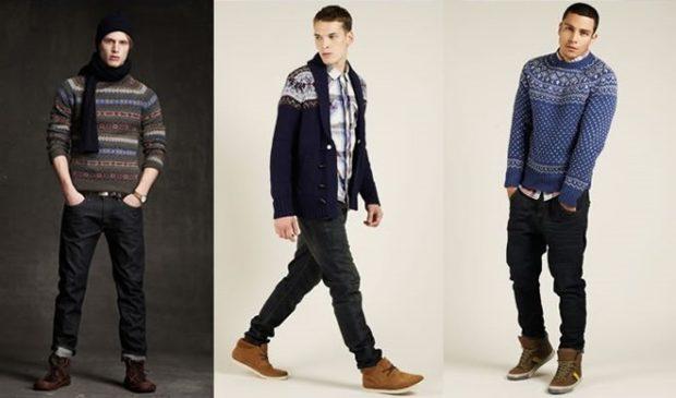 черные брюки и свитер
