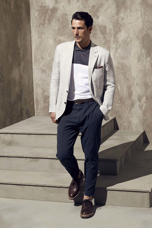 белый пиджак с черными брюками