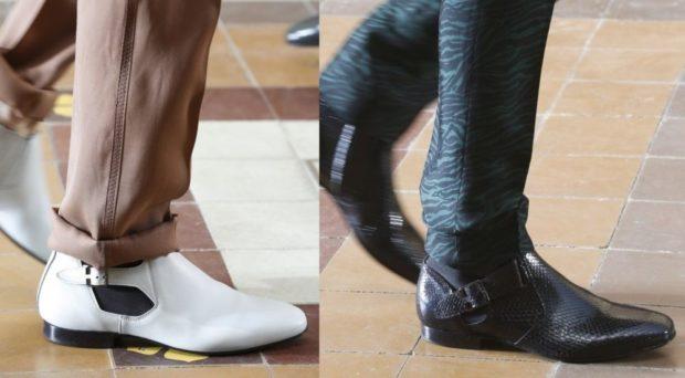 белые туфли, черные туфли
