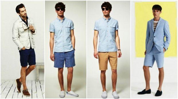 рубашка и шорты, футболка и шорты