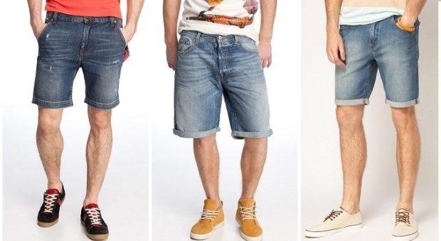 джинсовые шорты до колена