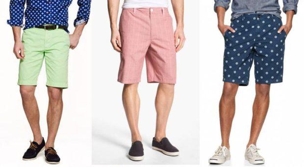 салатовые, розовые, синие шорты до колена