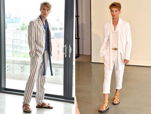 полосатый костюм, костюм белого цвета