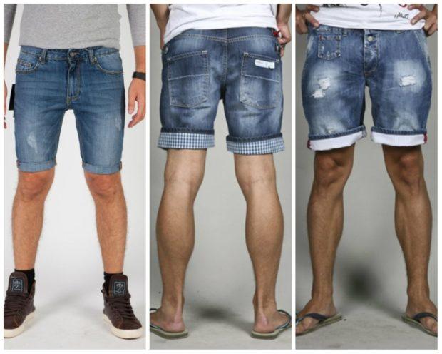 шорты джинсовые с подворотами