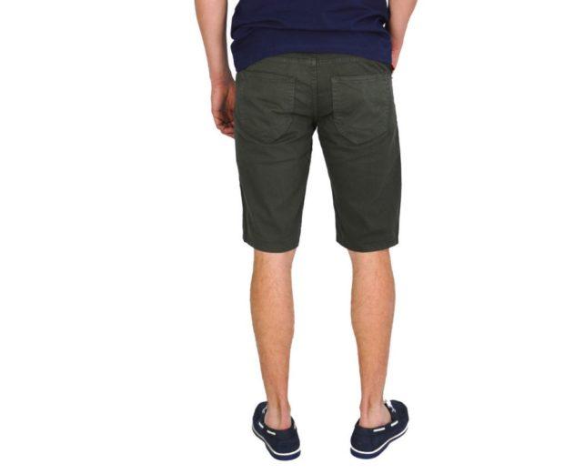 темно зеленые шорты до колена