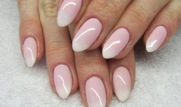 маникюр омбре нежно-розовый