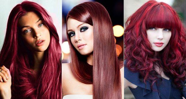 оттенки цвета марсала на волосах