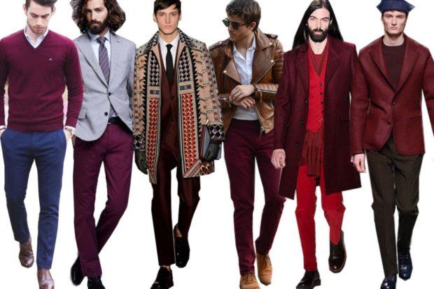 костюм для мужчин цвета марсала