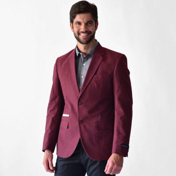 мужской пиджак цвета марсала
