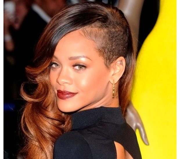 женские стрижки на длинные волосы: выбритый висок на мягкие локоны