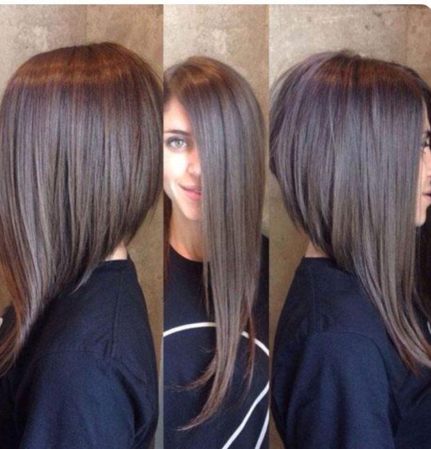 стрижки на длинные волосы: асимметричная с косой удлиненной челкой