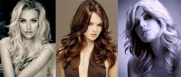 стрижки на длинные волосы: итальянка без челки