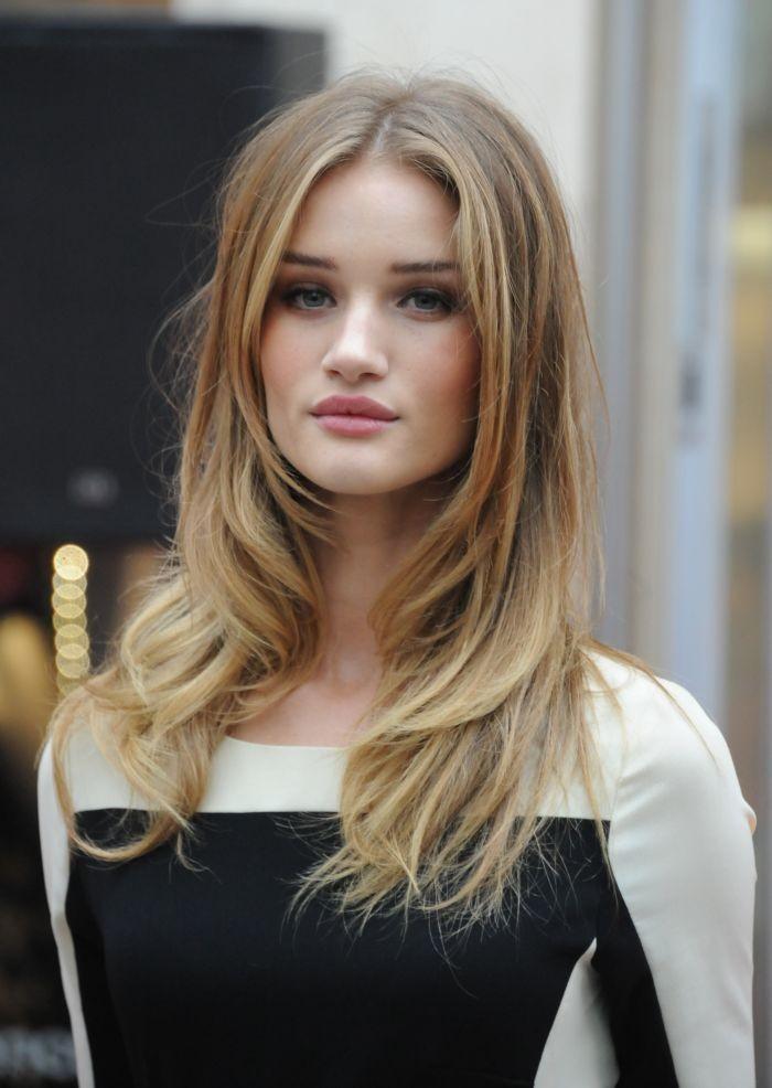 стрижка «Рапсодия» на длинные волосы без челки классический вариант
