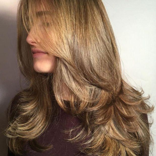 стрижка «Рапсодия» на длинные волосы без челки