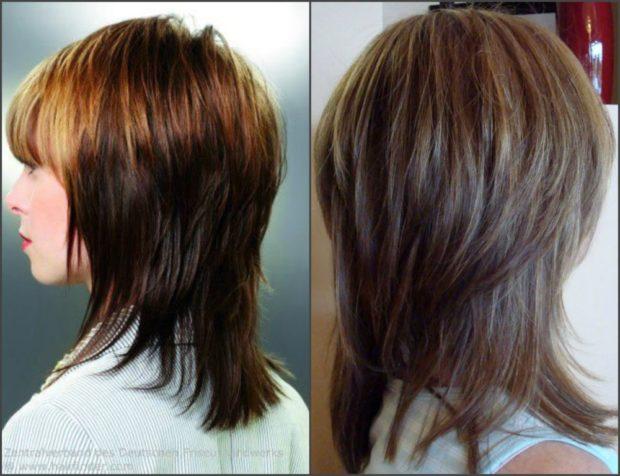 стрижка на длинные волосы: женская Дебют с ровной челкой