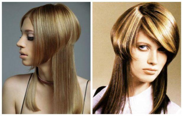 длинная женская стрижка: Шапочка без челки с косой челкой