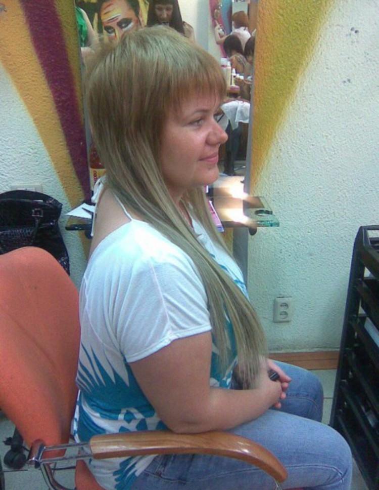 стрижка Шапочка на длинные волосы с ровной челкой  классический вариант