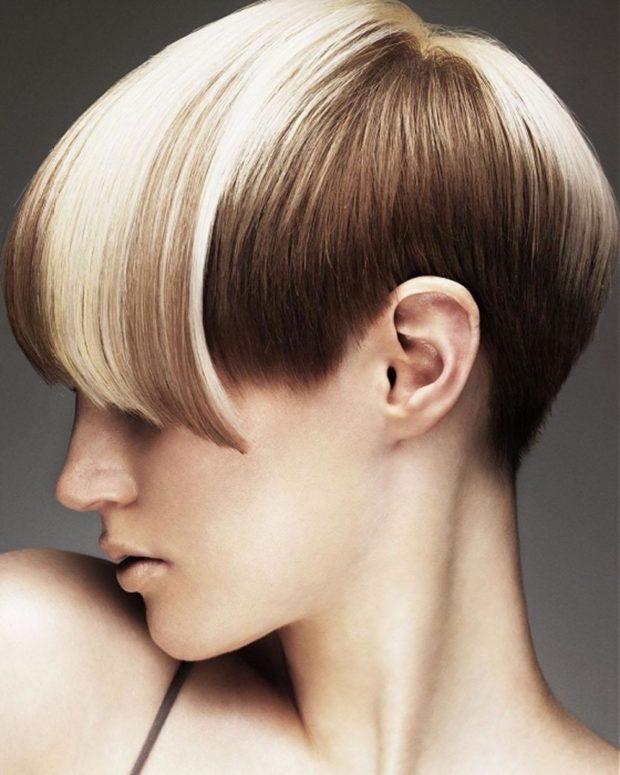 Креативная стрижка на короткие волосы после 40 лет
