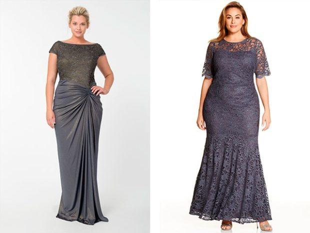 вечерние платье для полных макси