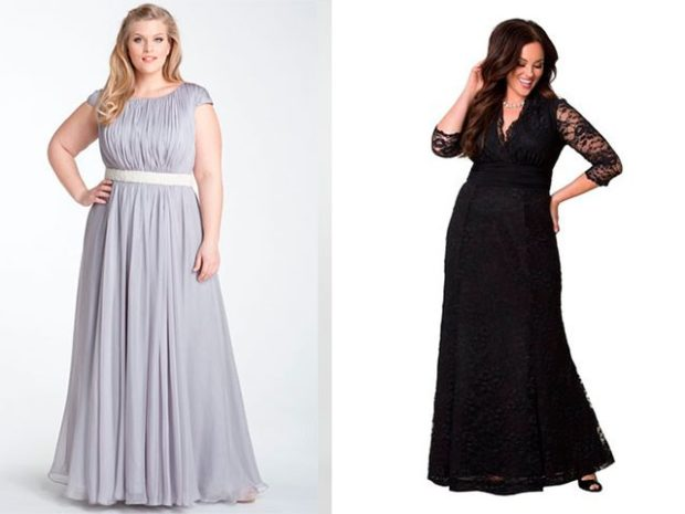 вечерние платье для полных макси белое и черное