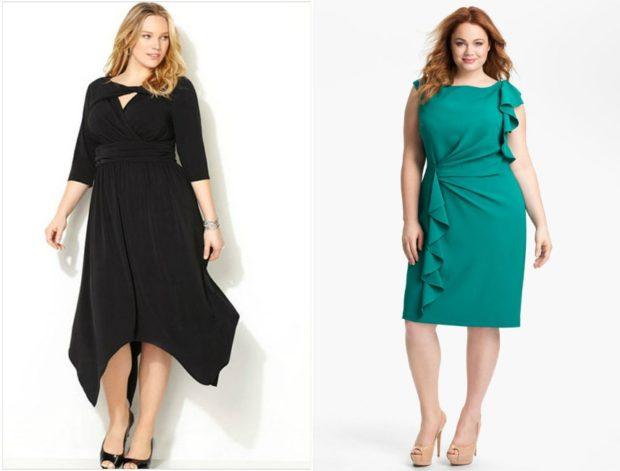 трикотажное платье черного и зеленого цвета длина миди
