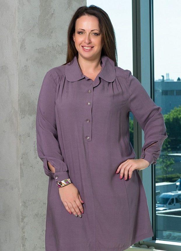 платье для полных женщин: рубашка