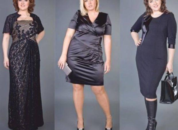 платья полным женщинам: макси мини