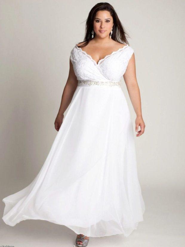 платье полным женщинам фото новинки: свадебное с шлейфом