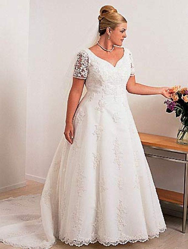 платье полным женщинам фото новинки: свадебное