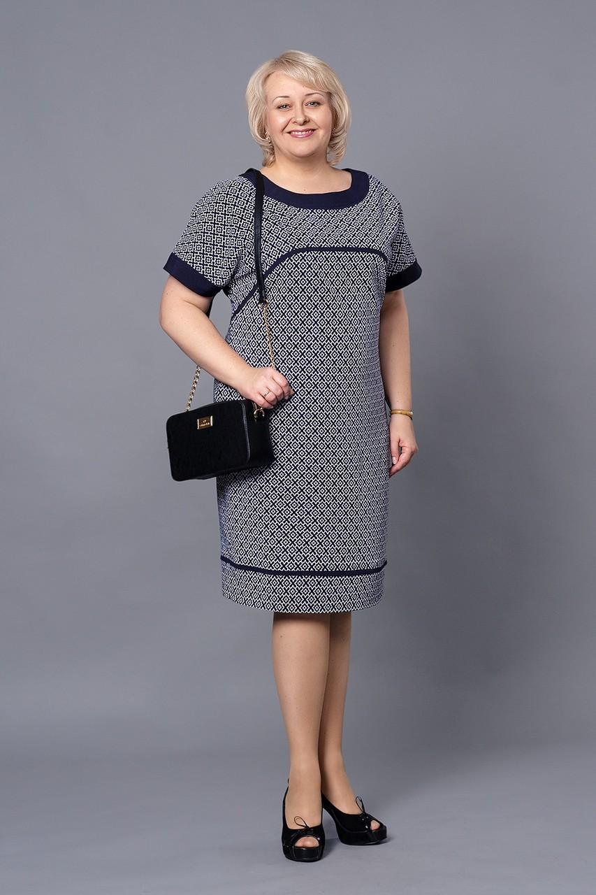 повседневное платье для полных, серого цвета