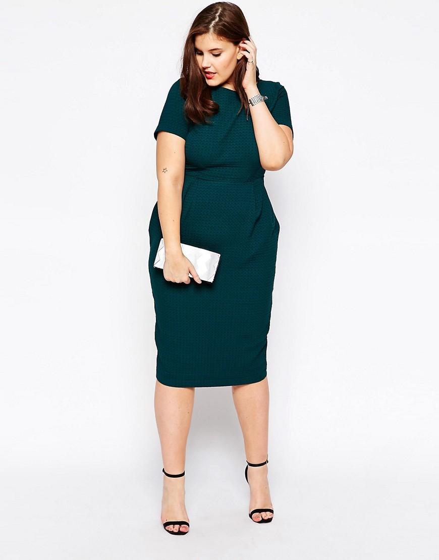 повседневное платье зеленого цвета для полных