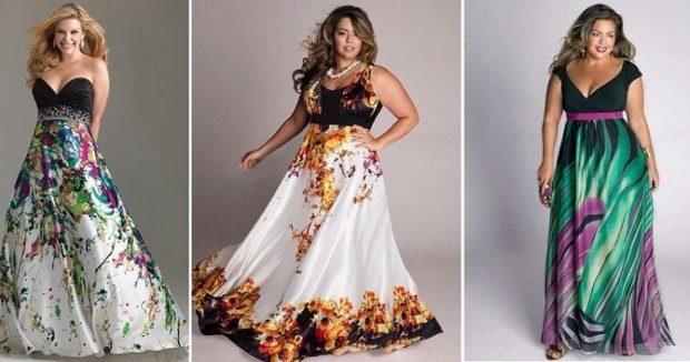 платье для полных девушек: в принт
