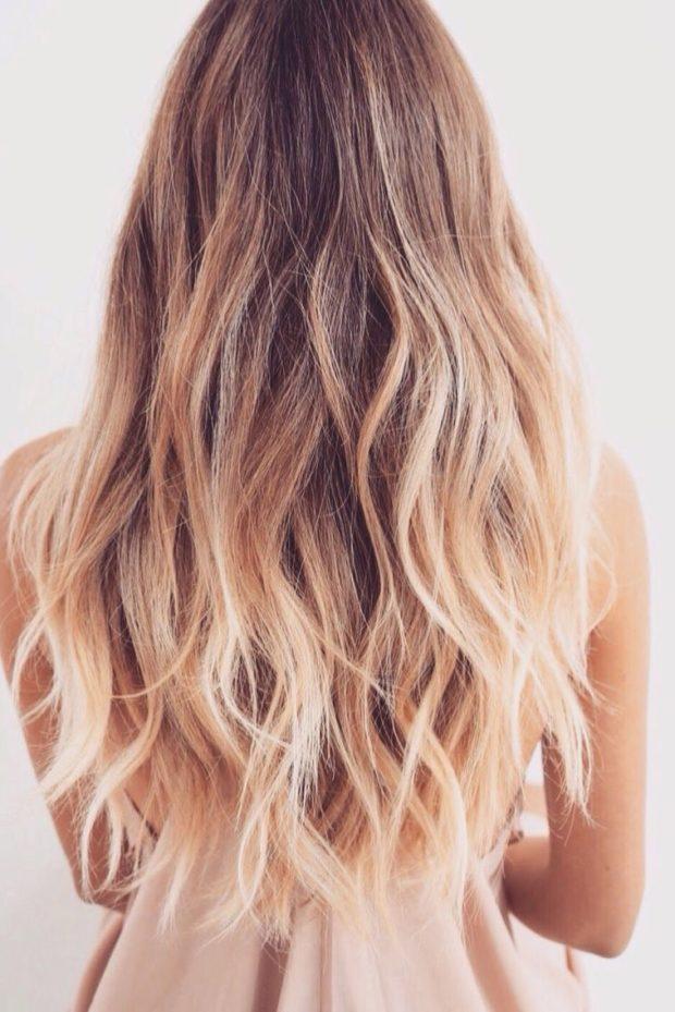 шатуш на длинные волосы: вид сзади