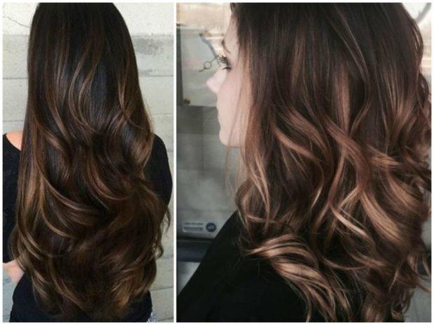 шатуш на длинный русый волос