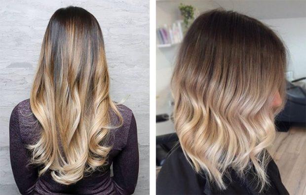 шатуш балаяж: на длинные волосы