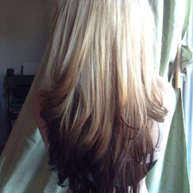 балаяж на длинный волос