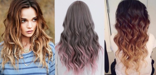 шатуш на длинный волос