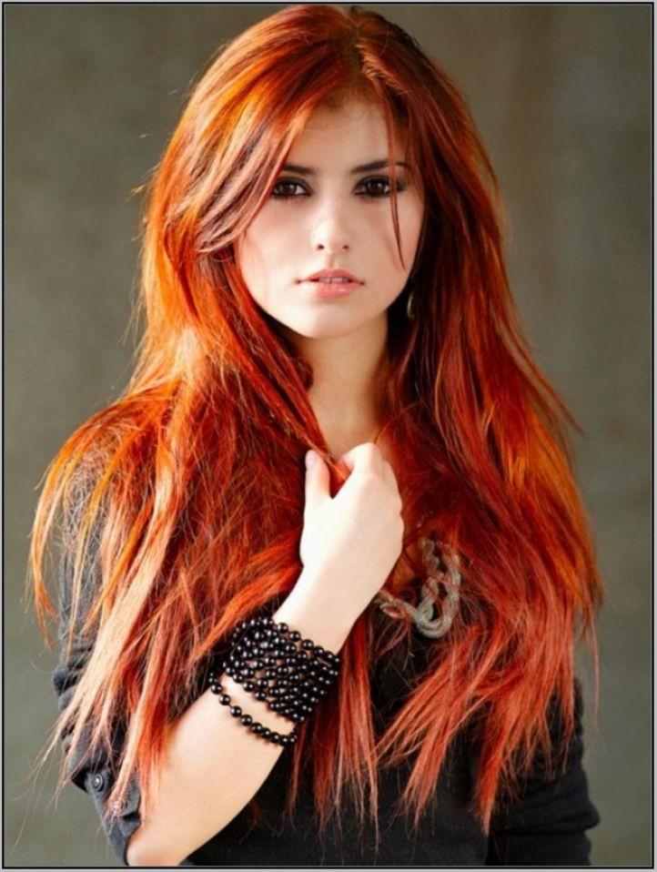шатуш на рыжие волосы: длинные