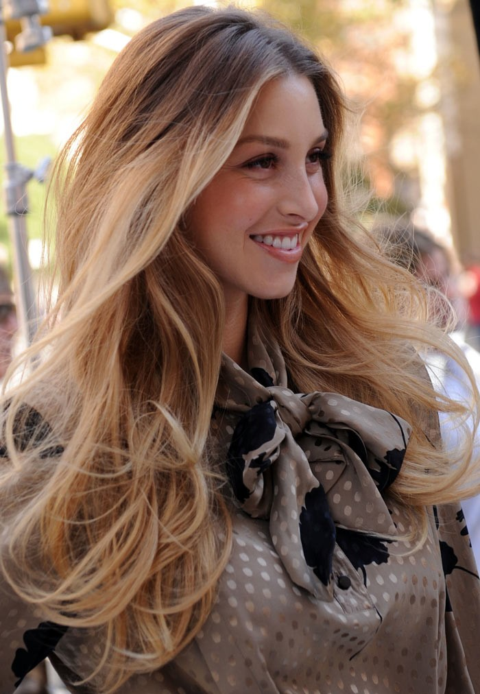 шатуш на длинный светлый волос