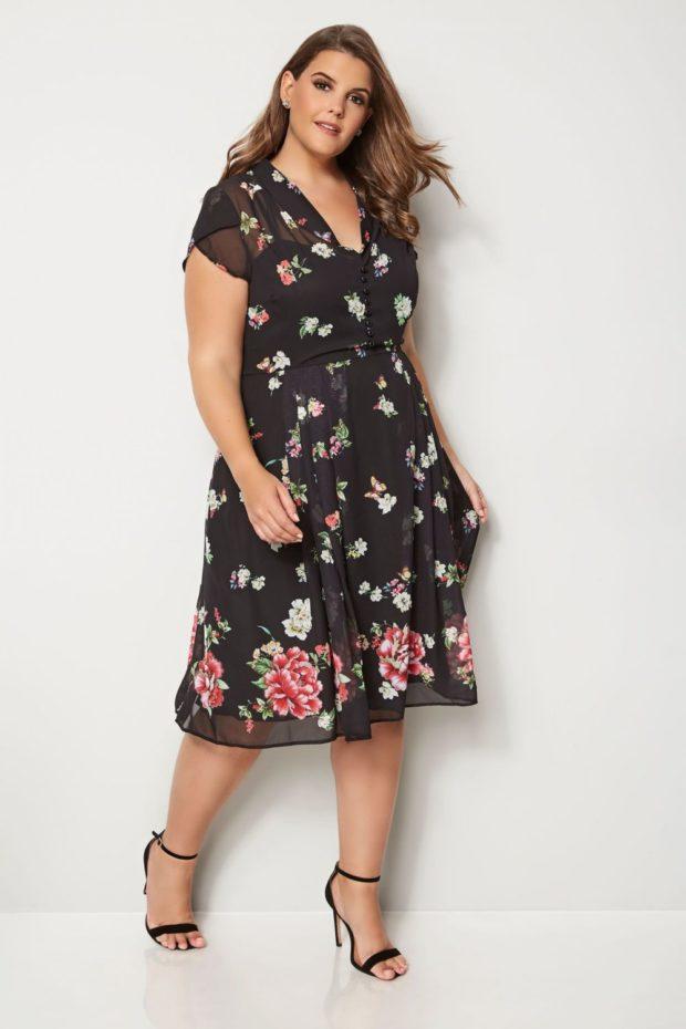 5acc44fb6ee2f25 Смотри! Модные платья для полных женщин 2019-2020 года 120 фото новинки