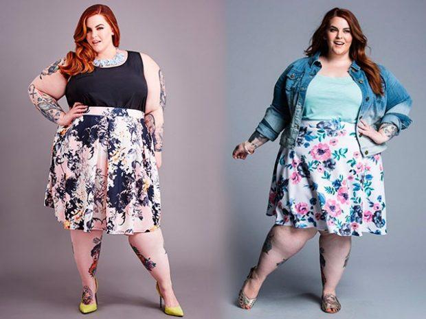 юбки яркие в цветы по колено